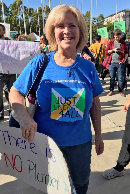 Betty Dickey at Climate Strike 2019