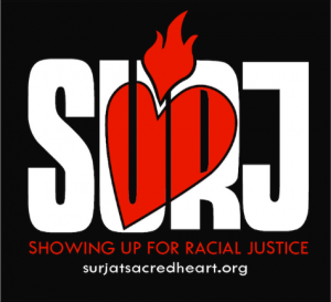 Logo for showing up for racial justice